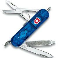 Нож Victorinox Signature Lite полупрозрачный синий (7 предметов), фото