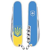 Нож Victorinox Spartan UKRAINE Флаг и Герб на 12 предметов, фото