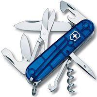 Нож Victorinox Climber полупрозрачный синий (14 предметов), фото