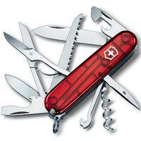 Нож Victorinox Huntsman полупрозрачный красный (15 предметов), фото