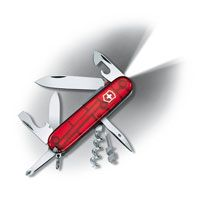 Нож Victorinox Spartan Lite полупрозрачный красный (15 предметов), фото
