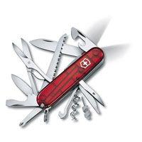 Нож Victorinox Huntsman Lite полупрозрачный красный (21 предмет), фото