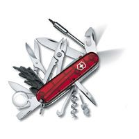 Нож Victorinox CyberTool Lite полупрозрачный красный (36 предметов), фото