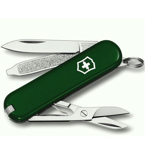 Нож Victorinox Classic зеленый (7 предметов), фото