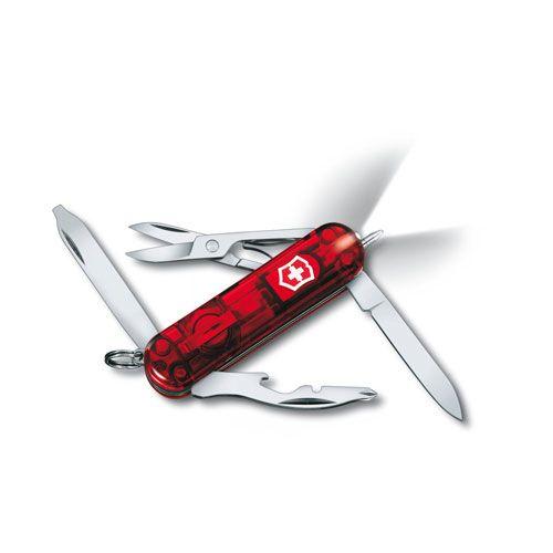 Нож Victorinox Manager Midnite полупрозрачный красный (10 предметов), фото