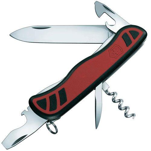 Нож Victorinox Nomad черный-красный (9 предметов), фото