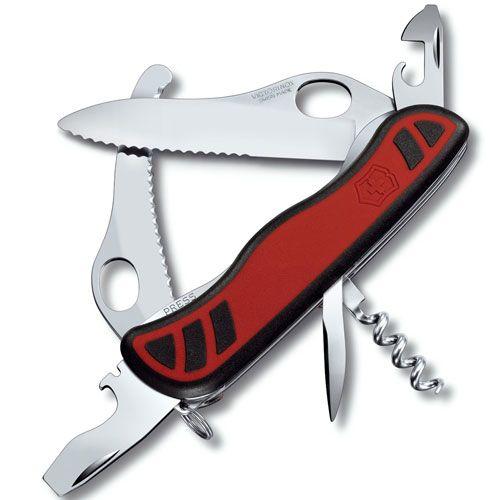 Нож Victorinox Dual Pro OneHand черный-красный (10 предметов), фото
