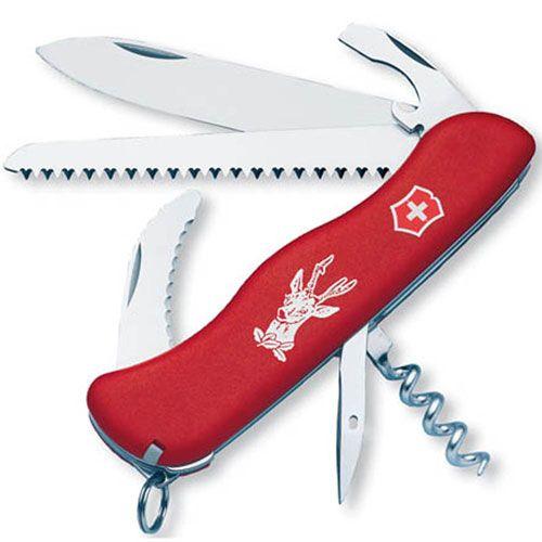 Нож Victorinox Hunter красный (12 предметов), фото