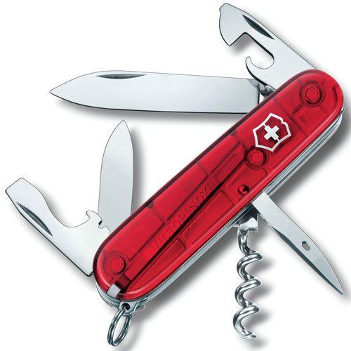 Нож Victorinox Spartan полупрозрачный красный (12 предметов), фото