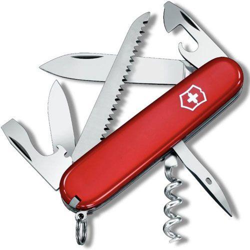 Нож Victorinox Camper красный (13 предметов), фото