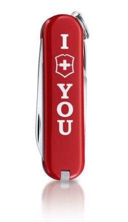 Нож Victorinox Classic The Gift красный (7 предметов) лимитированная серия
