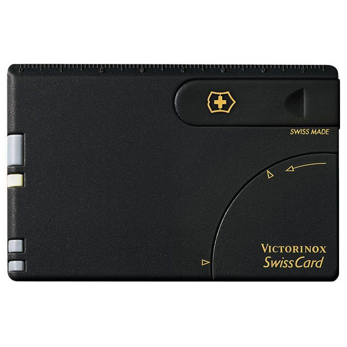 Набор инструментов Victorinox SwissCard черный (10 предметов)
