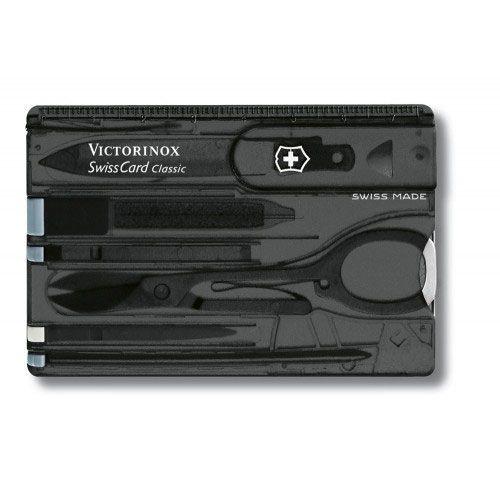 Набор инструментов Victorinox SwissCard черный прозрачный (10 предметов)