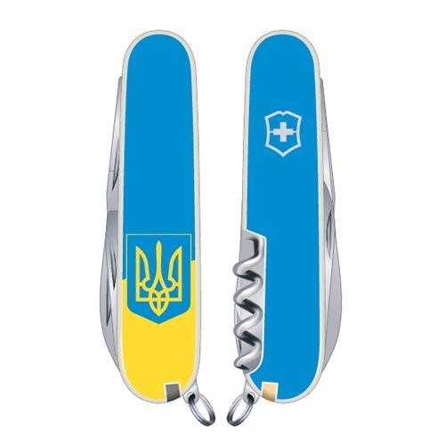 Нож Victorinox Swiss Army CLIMBER UKRAINE  на 14 предметов с гербом