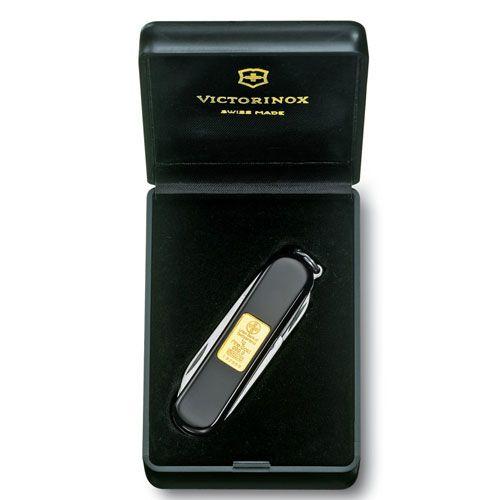 Нож Victorinox Classic Gold черный (7 предметов) проба 999.9, фото