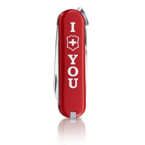 Нож Victorinox Classic The Gift красный (7 предметов) лимитированная серия, фото