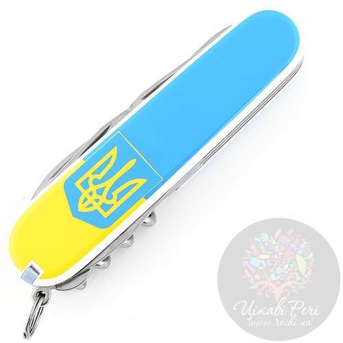 Нож Victorinox Swiss Army CLIMBER UKRAINE  на 14 предметов с гербом, фото