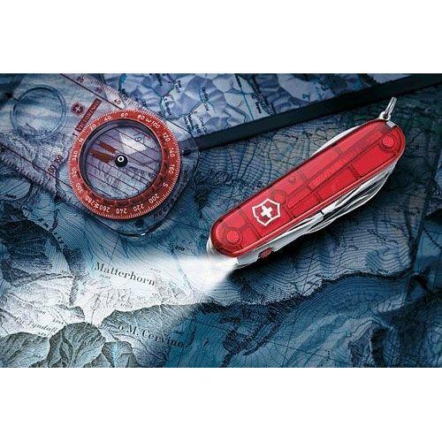 Нож Victorinox Traveller Lite полупрозрачный красный (27 предметов), фото