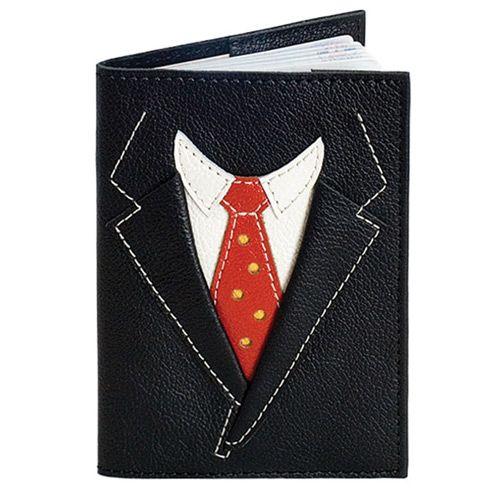 Обложка для паспорта Unique U Пиджак чёрный, фото