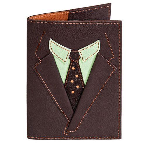 Обложка для паспорта Unique U Пиджак коричневый, фото