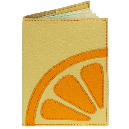 Обложка Unique U Лимон для паспорта желтая, фото