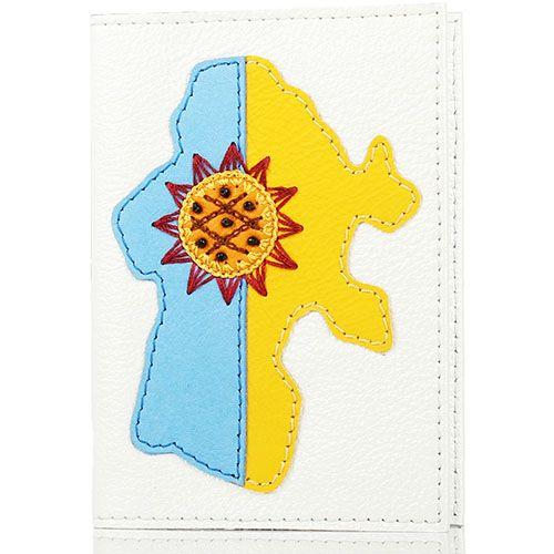 Обложка для паспорта Unique U белого цвета Украина и подсолнух, фото