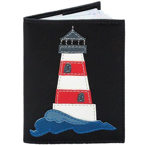 Обложка для паспорта Unique U черного цвета Маяк, фото