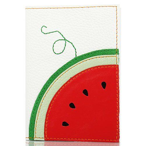 Обложка для паспорта Unique U белого цвета Арбуз, фото