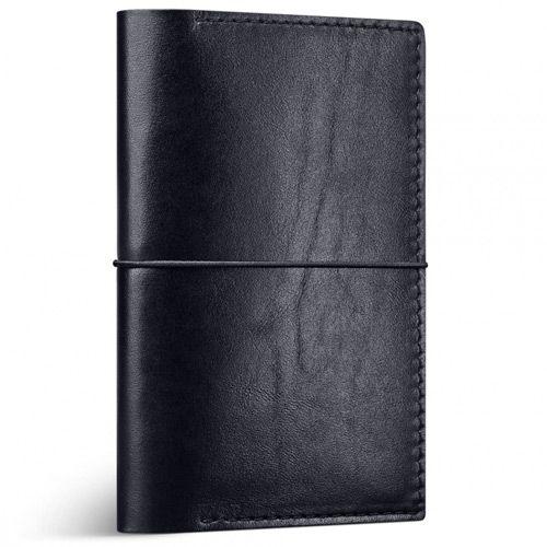 Кожаная обложка-кейс Moreca Black Passport Case для паспорта и других документов, фото