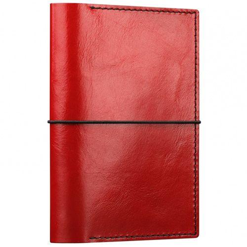 Кейс Moreca для паспортов и документов красный кожаный, фото