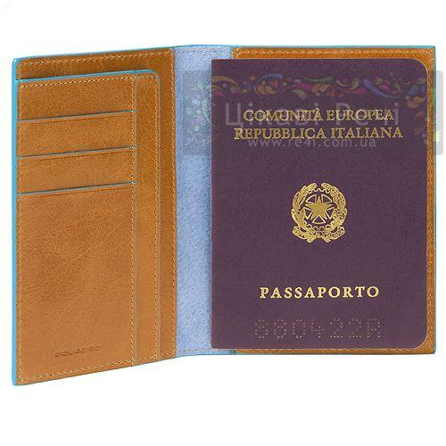 Обложка для паспорта Blue square, фото