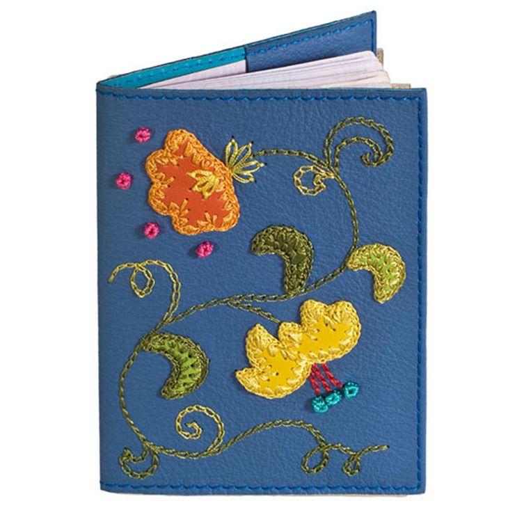 Обложка Unique U Вальс цветов синяя для паспорта