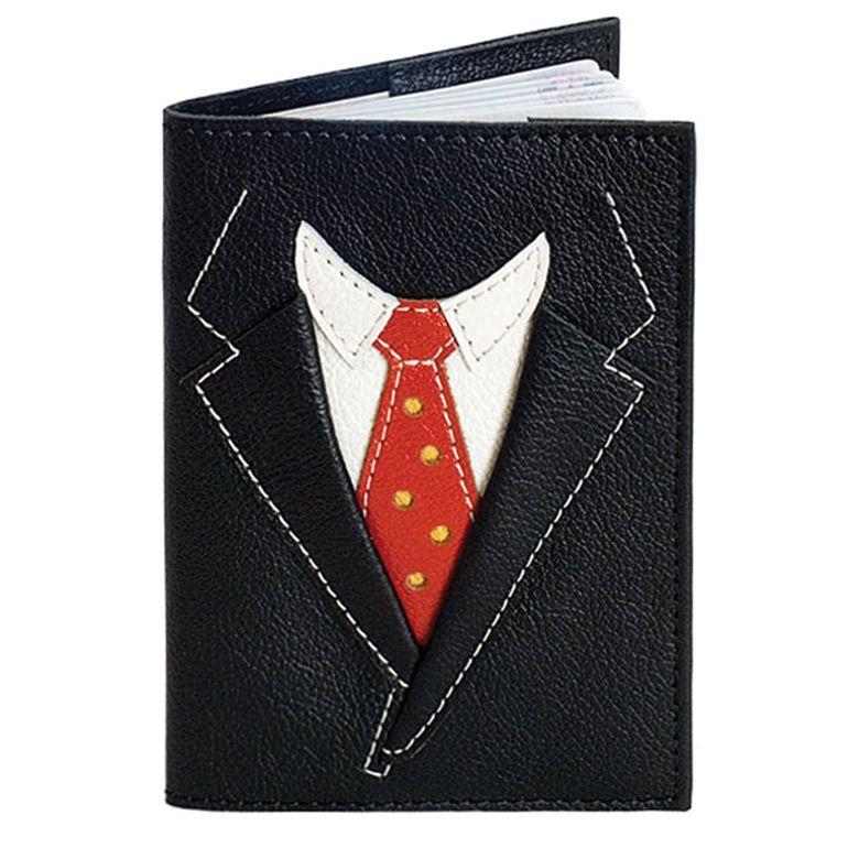 Обложка для паспорта Unique U Пиджак чёрный