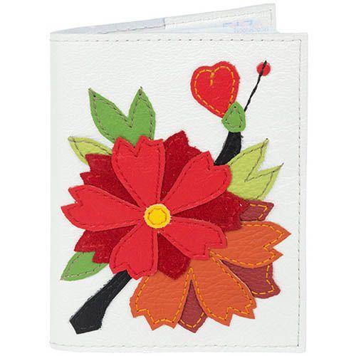 Обложка для паспорта Unique U Императорская сакура красная