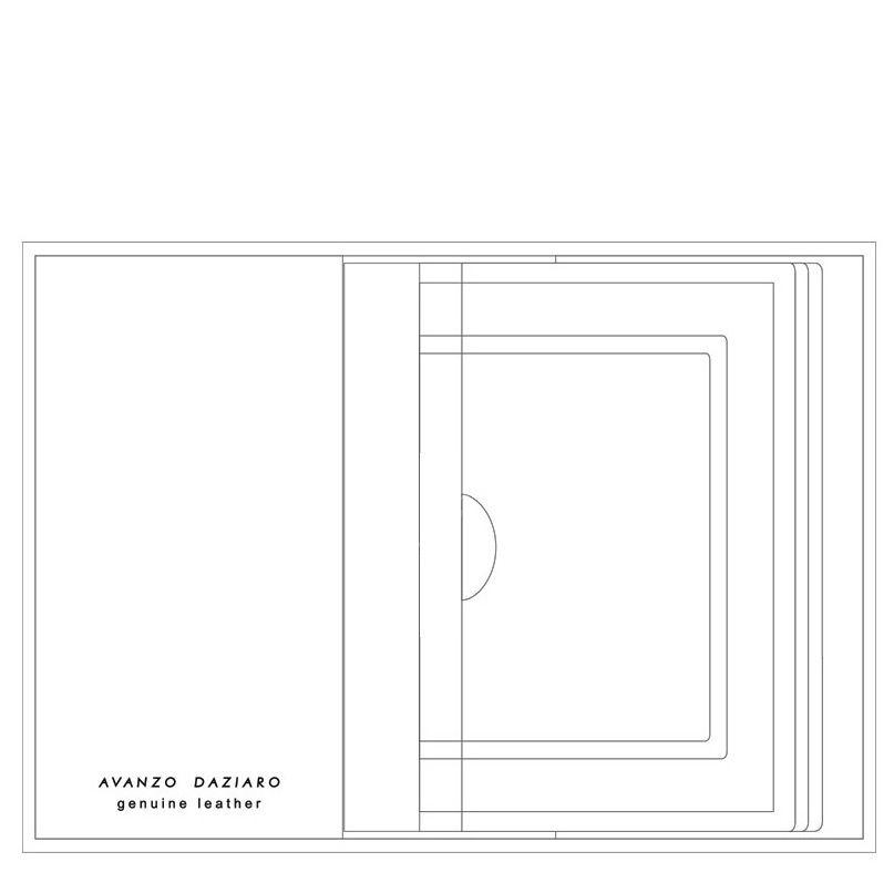 Обложка для автодокументов Avanzo Daziaro Barcelona черная кожаная