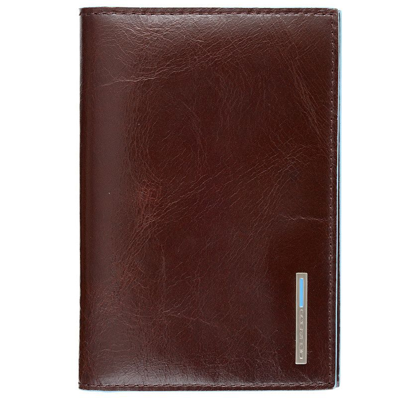 Обложка Piquadro Blue Square для паспорта коричневая