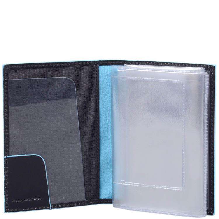 Обложка для прав Piquadro Blue Square из натуральной гладкой кожи