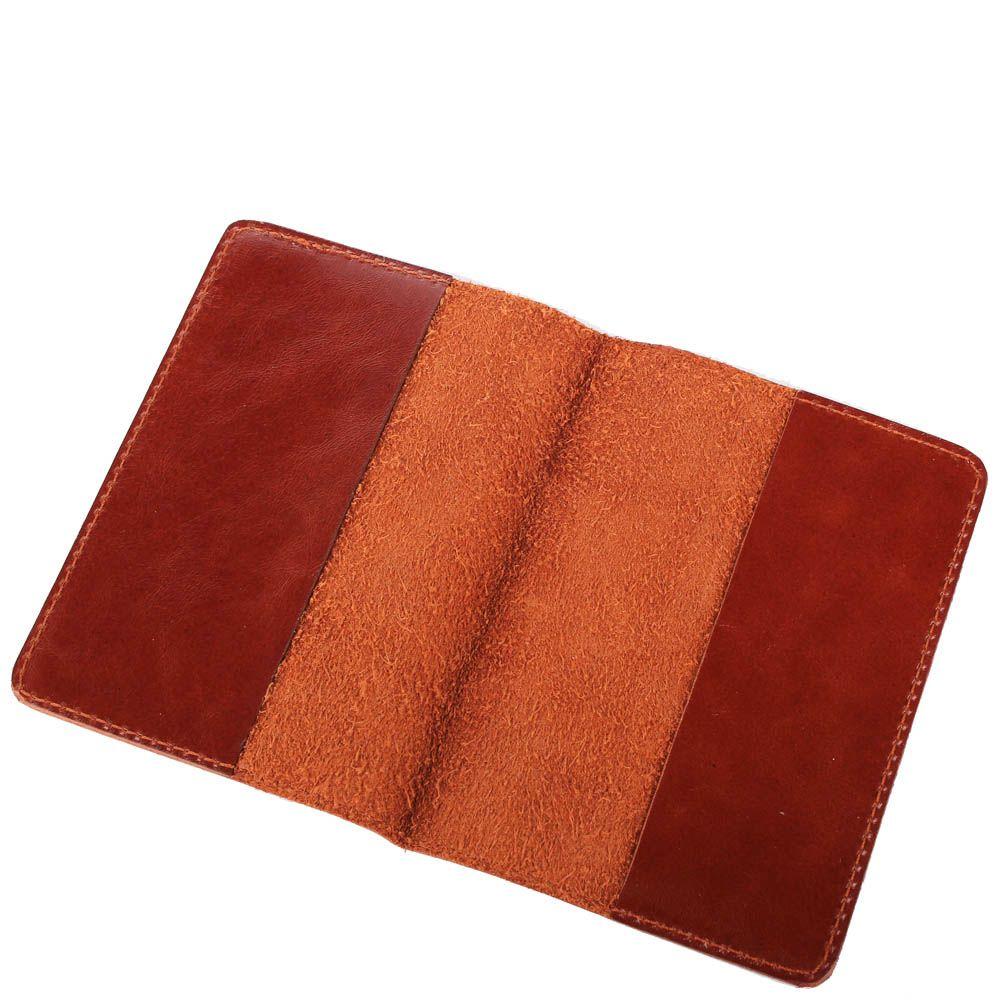 Обложка для паспорта Rechi.Ua коричневого цвета из глянцевой кожи