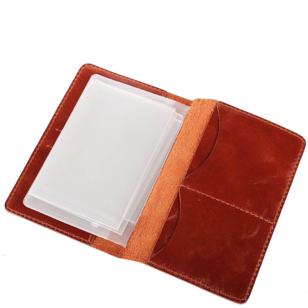 Обложка для прав Rechi.Ua коричневого цвета из глянцевой кожи
