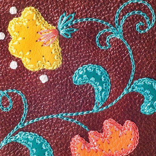 Обложка для паспорта Unique U  Вальс цветов золотисто-коричневая, фото