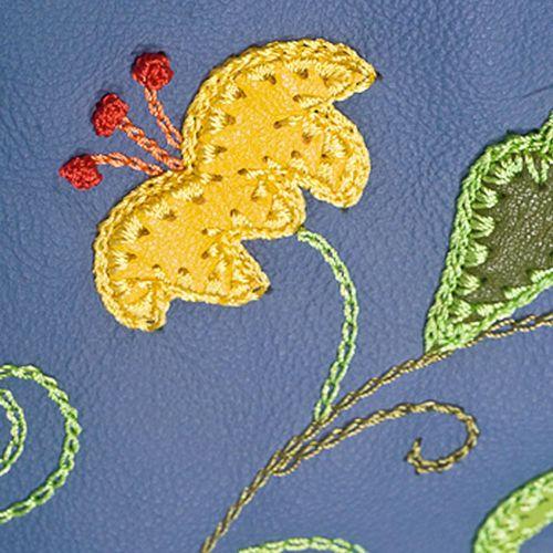 Обложка Unique U Вальс цветов синяя для паспорта, фото