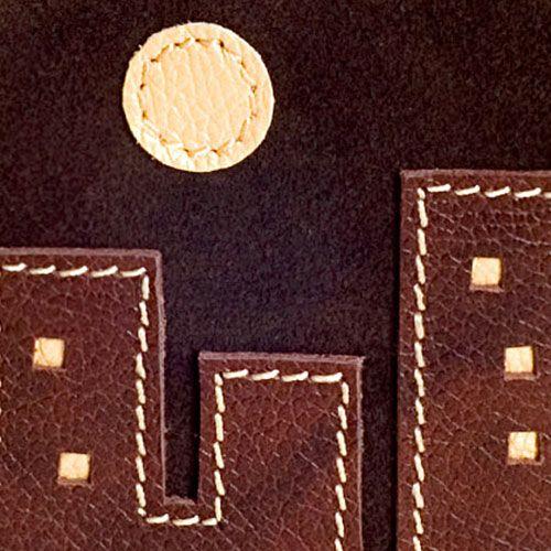 Обложка Unique U Ночной город коричневая для паспорта, фото