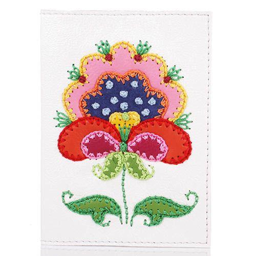 Обложка для паспорта Unique U Петриковский цветок, фото