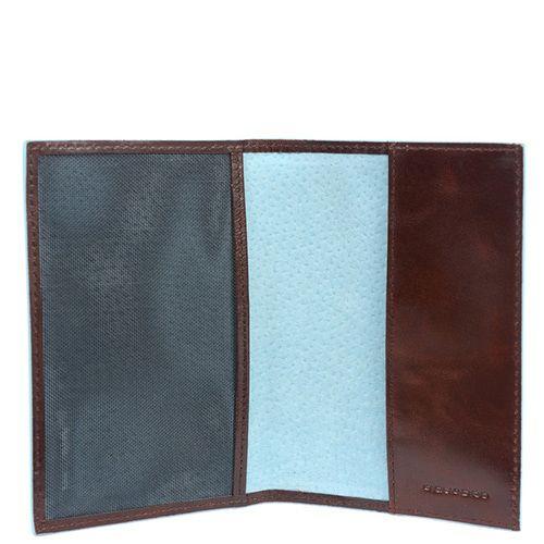 Обложка Piquadro Blue Square для паспорта коричневая, фото