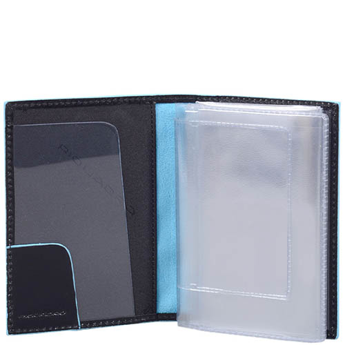 Обложка для прав Piquadro Blue Square из натуральной гладкой кожи, фото