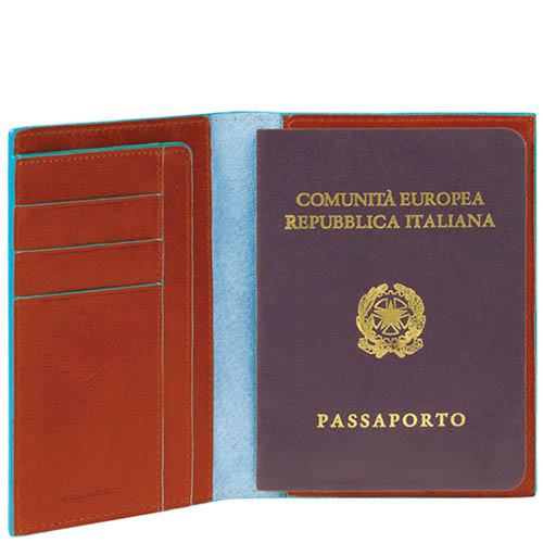 Обложка для паспорта Piquadro Blue square, фото