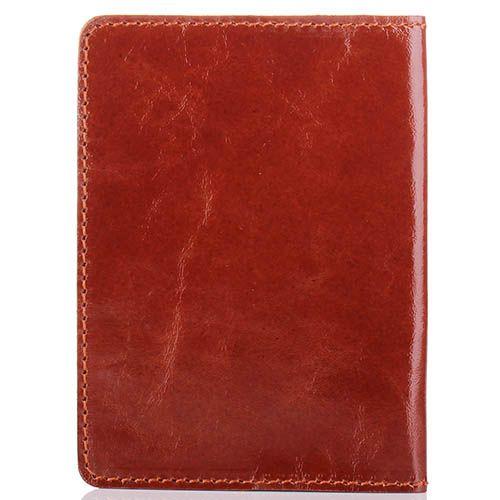 Обложка для паспорта Rechi.Ua коричневого цвета из глянцевой кожи, фото