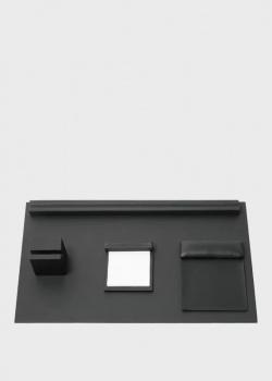 Настольный набор Hugo Boss Stripe Soft Black с магнитными креплениями, фото