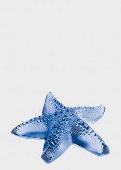 Пресс-папье Lalique Oceania синего цвета, фото