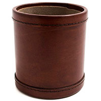 Подставка для ручек Cofur из кожи коричневого цвета, фото